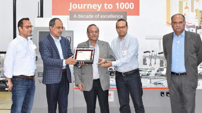 Bobst India reach milestone with 1,000th folder-gluer