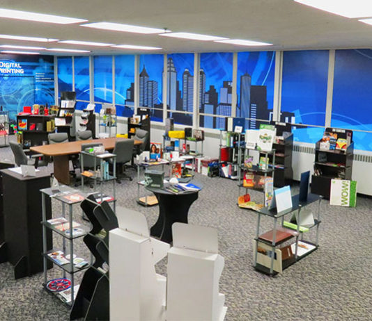 Sample and Resource Center and conference room at Art Laminating and Finishing in Atlanta
